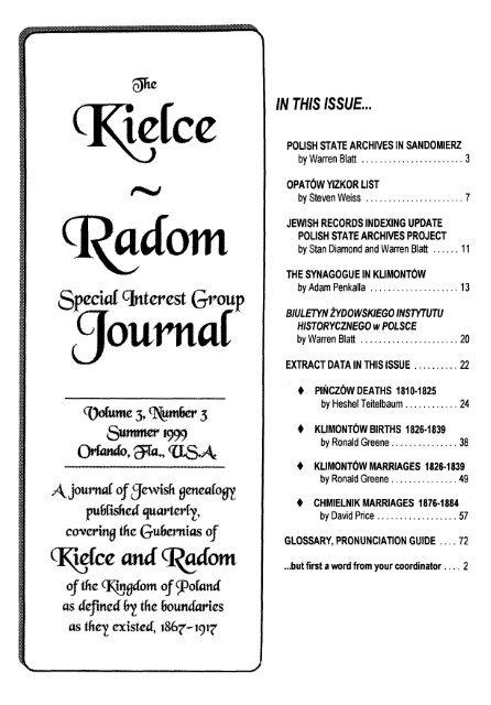 journal - JewishGen