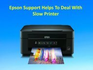 Epson Support Helps To Deal With Slow Printer