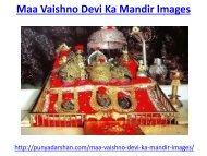 Maa Vaishno Devi Ka Mandir Images
