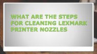 What are the Steps for cleaning Lexmark printer nozzles?