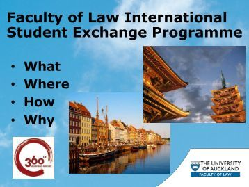 what is the exchange programme? - Faculty of Law - The University ...