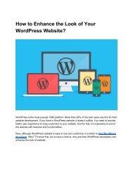How to Enhance the Look of Your WordPress Website