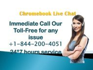 chromebook Live Chat +1-844-200-4051