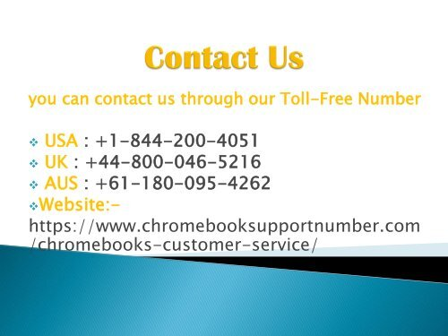 chromebook Live Chat +1-844-200-4051