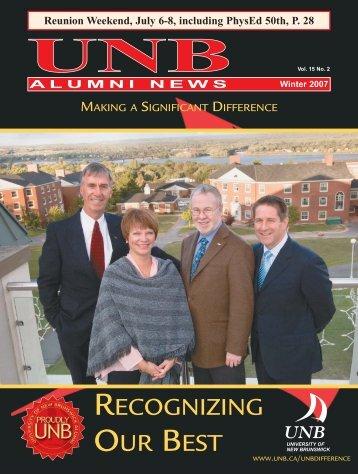 AN Winter 2007 - University of New Brunswick