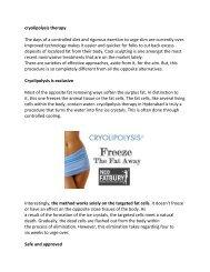 cryolipolysis therapy