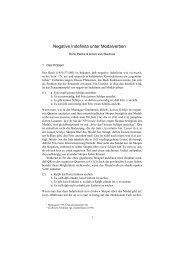Negative Indefinita unter Modalverben - Universität Konstanz