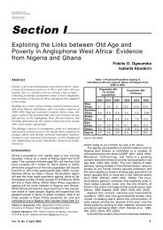 Exploring the Links between Old Age and Poverty - Oxford Institute ...