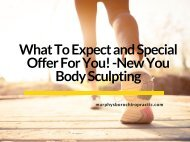 What To Expect and Special Offer For You! -New You Body Sculpting