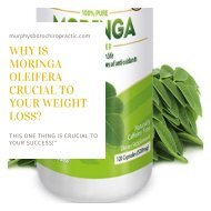 Why is Moringa Oleifera crucial to your weight loss-body sculpting treatments
