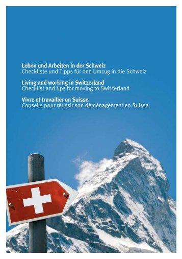 Leben und Arbeiten in der Schweiz Checkliste und ... - Comparis.ch