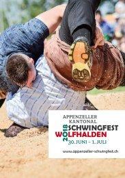 Festführer Appenzeller Kantonal Schwingfest 2018