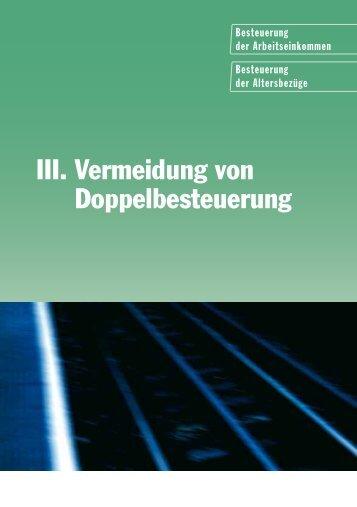 III. Vermeidung von Doppelbesteuerung - EURES Bodensee