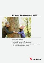 Schweizer Pensionskassen 2008 - Kantonalbanken