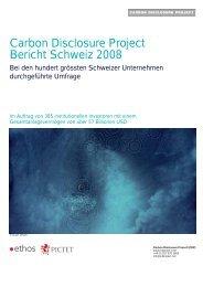 Carbon Disclosure Project Bericht Schweiz 2008