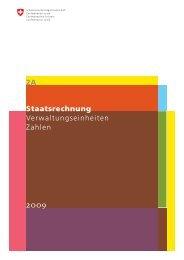 Band 2A Verwaltungseinheiten Zahlen R2009 - Eidg ...