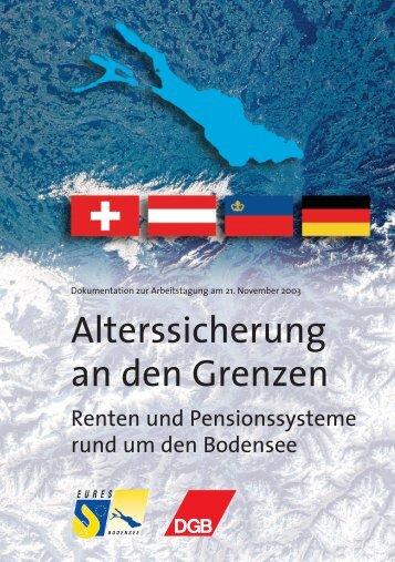 Alterssicherung an den Grenzen - EURES Bodensee