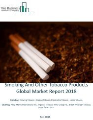 Smoking And Other Tobacco Products  Global Market Report 2018