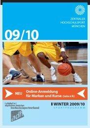 Sportprogramm München Winter 2009/10 - ZHS