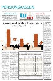 Eintagsfliegen - Pensionskassenvergleich.ch