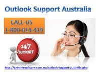 Outlook Support Australia 1-800-614-419| Suitable Solutions
