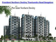 Provident Northern Destiny | New Project in Bangalore