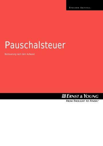 Pauschalsteuer - Home - Ernst & Young - Schweiz