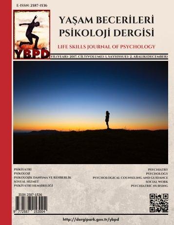 Yaşam Becerileri Psikoloji Dergisi Cilt:1 Sayı:2 Aralık 2017