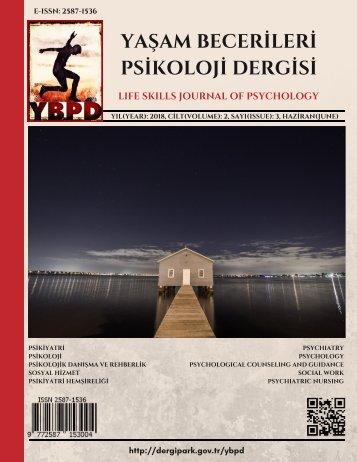 Yaşam Becerileri Psikoloji Dergisi Cilt:2 Sayı:3 Haziran 2018