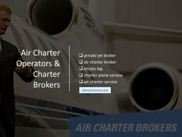 Charter Operators & Charter Brokers