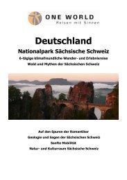 Deutschland Nationalpark Sächsische Schweiz - ONE WORLD ...