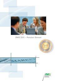 Flyer DWS (CH) - Pension Garant - Pax Schweizerische ...