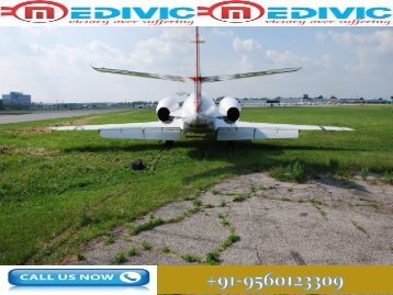 Avail Low Fare Air Ambulance in Varanasi with Medical Team