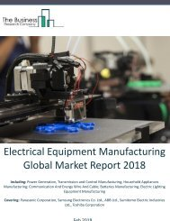 Electrical Equipment Manufacturing Global Market Report 2018