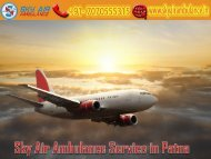 Receive Air Ambulance Service from Patna at Any-time by Sky Air Ambulance