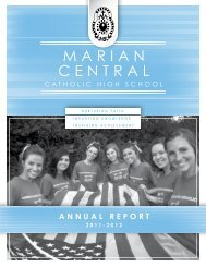 annual report 2011-2012 - Marian Central Catholic High School