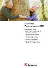 Schweizer Pensionskassen 2011 - Kantonalbanken
