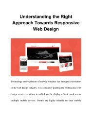 Understanding the Right Approach Towards Responsive Web Design