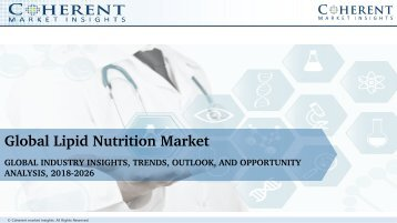 Global Lipid Nutrition Market to Surpass US$ 13.31 Billion by 2025