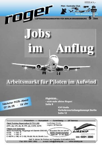 Jobs!!! - Roger - Luftfahrtnachrichten für Berlin und Brandenburg