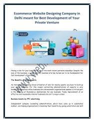 Ecommerce Website Designing Company in Delhi for Best Development