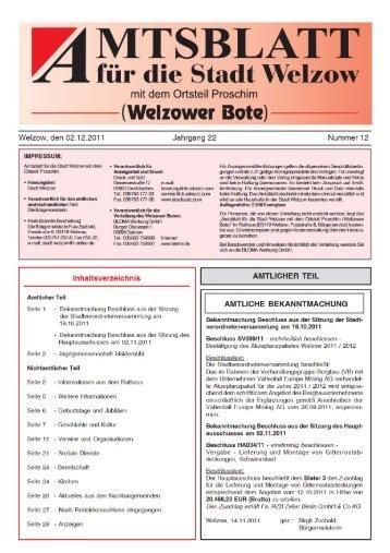 MTSBLATT - Welzow