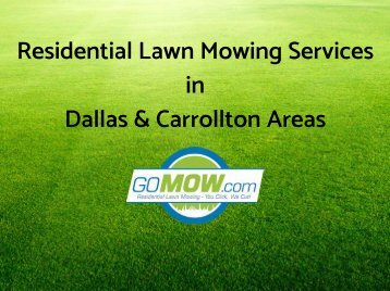 Need lawn mowing services in Dallas Texas