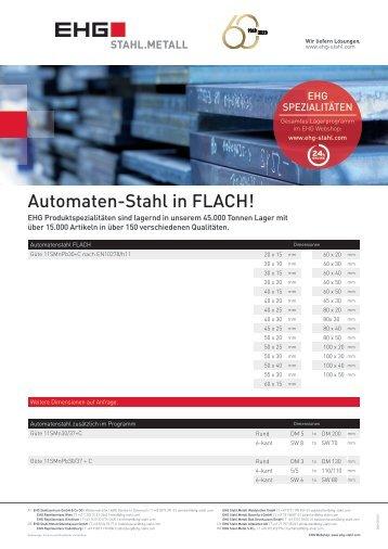 EHG Produktblatt Automatenstahl DE 2018