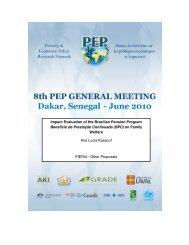Impact Evaluation of the Brazilian Pension Program ... - PEP-NET