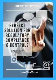 Corporate Management and Regulatory Compliance - Sirius Solutions