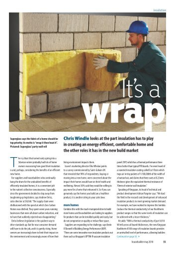 Insulation feature Housebuilder May