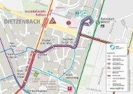 Umleitungsplan für Buslinien