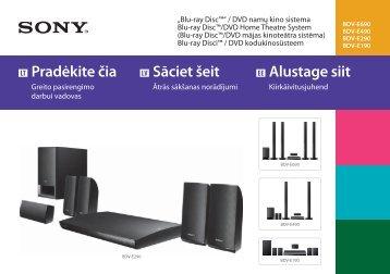 Sony BDV-E490 - BDV-E490 Guida di configurazione rapid Lituano
