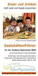 Essen und trinken - Vorderer Bayerischer Wald
